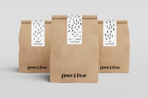Túi giấy đựng bánh nỳ